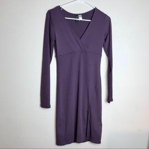 H&M Ribbed Bodycon Slit Dress